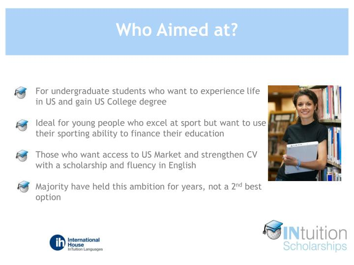 For undergraduate students who want to experience