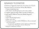 advance to starter1