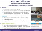 movement with a plan who has been involved every newborn consultation process