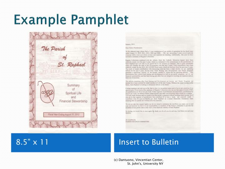 Example Pamphlet