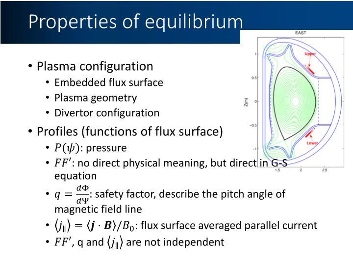 Properties of equilibrium
