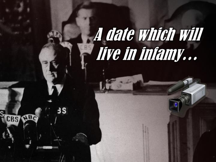 A date which will live in infamy…