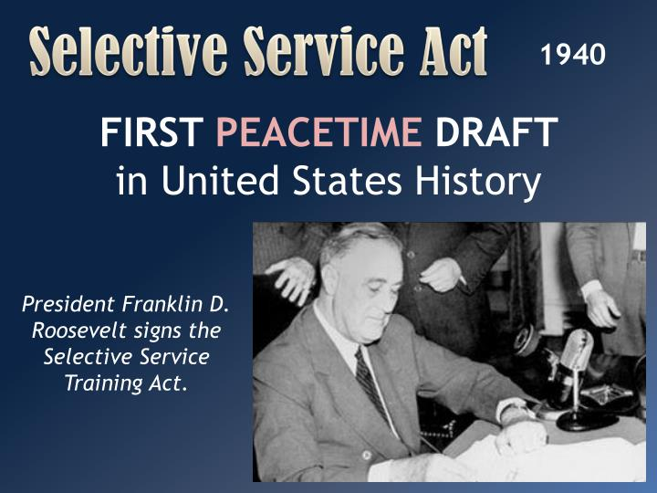 Selective Service Act