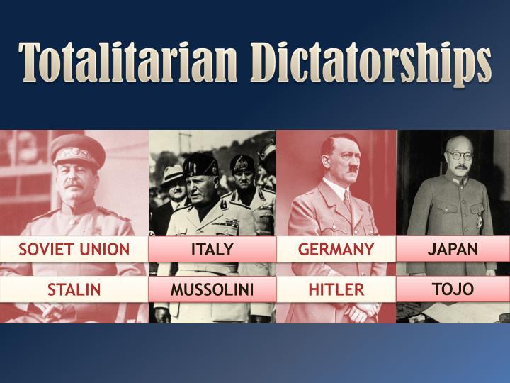 totalitarian dictatorship examples