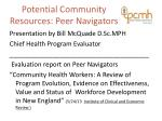potential community resources peer navigators