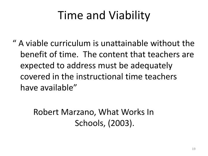 Time and Viability