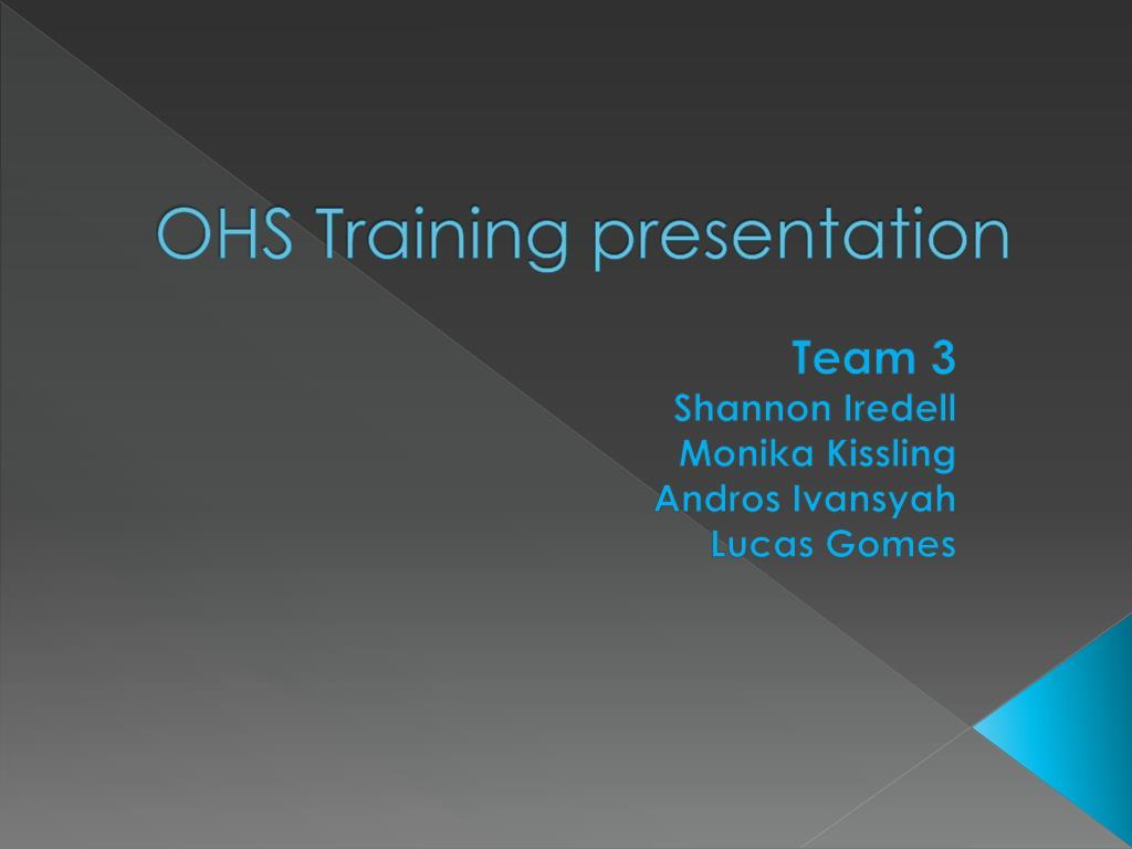 ppt ohs training presentation powerpoint presentation id 2656216