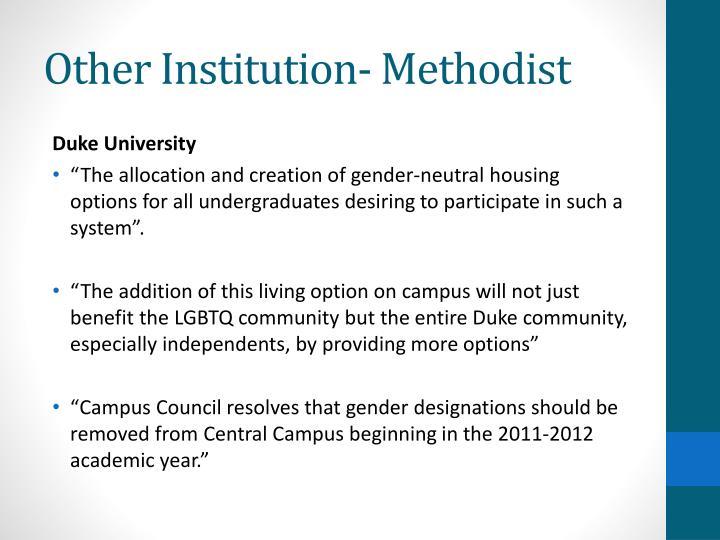 Other Institution- Methodist
