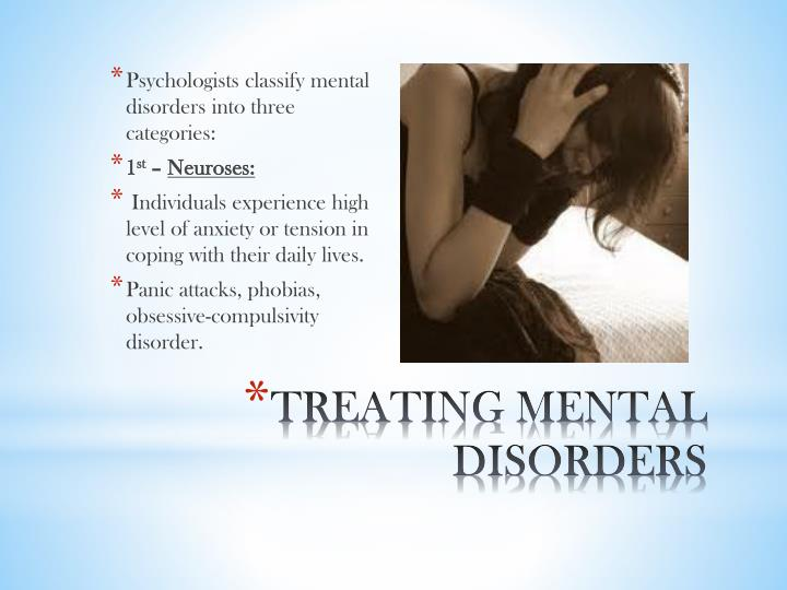 Treating mental disorders