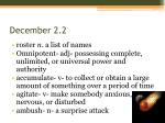 december 2 2
