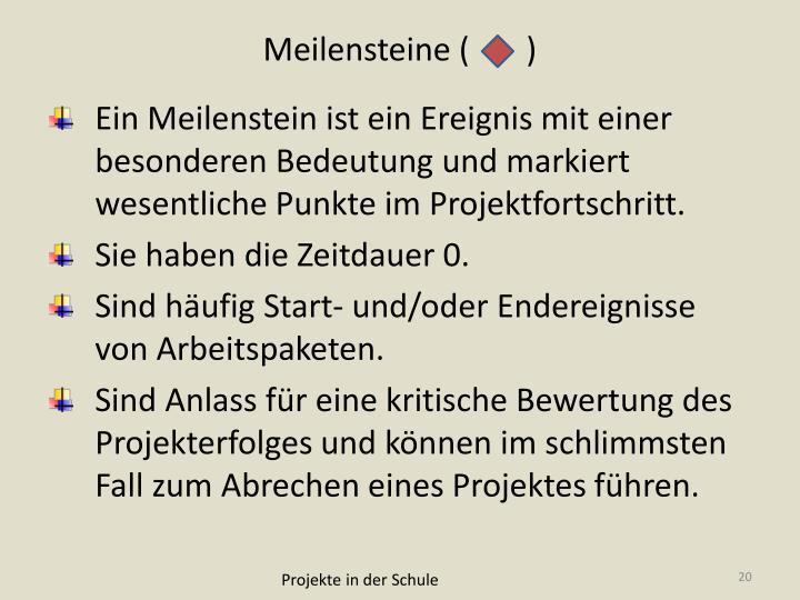 Meilensteine (       )