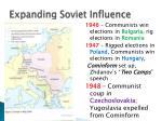 expanding soviet influence