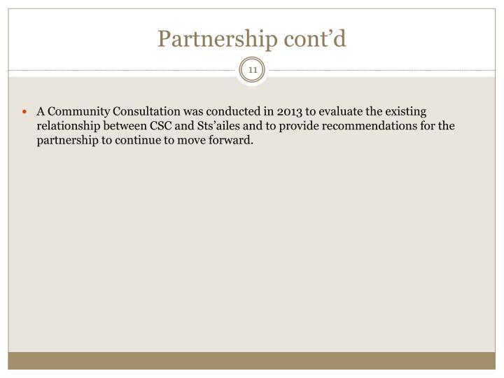 Partnership cont'd