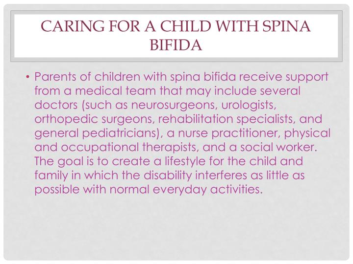 Caring for a Child With Spina Bifida