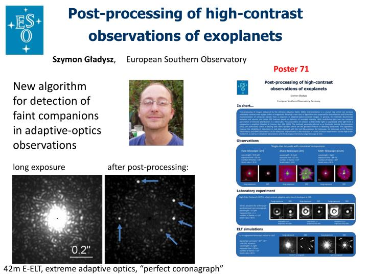 Post-processing of high-contrast observations of exoplanets