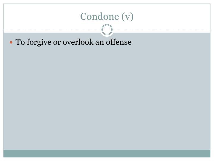 Condone v1