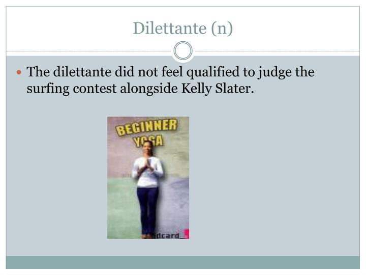 Dilettante (n)