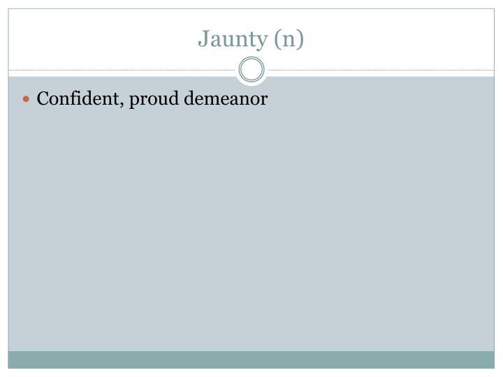 Jaunty (n)