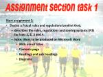 assignment section task 1