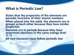what is periodic law