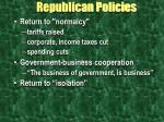 republican policies