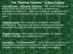 the roaring twenties a new culture