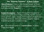 the roaring twenties a new culture1