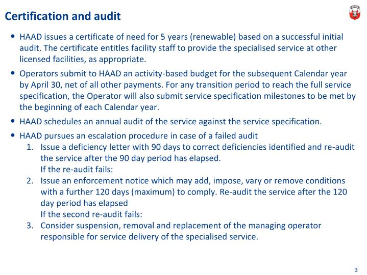 Certification and audit