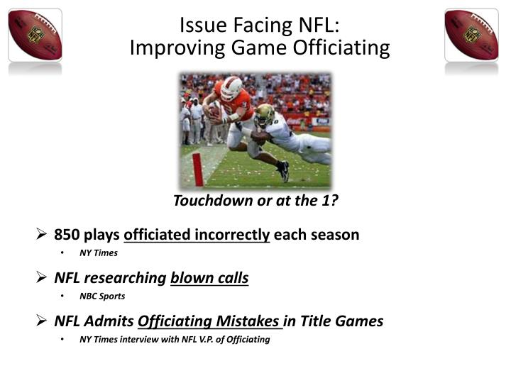 Issue Facing NFL: