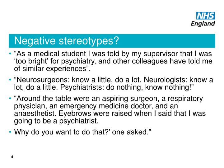 Negative stereotypes?