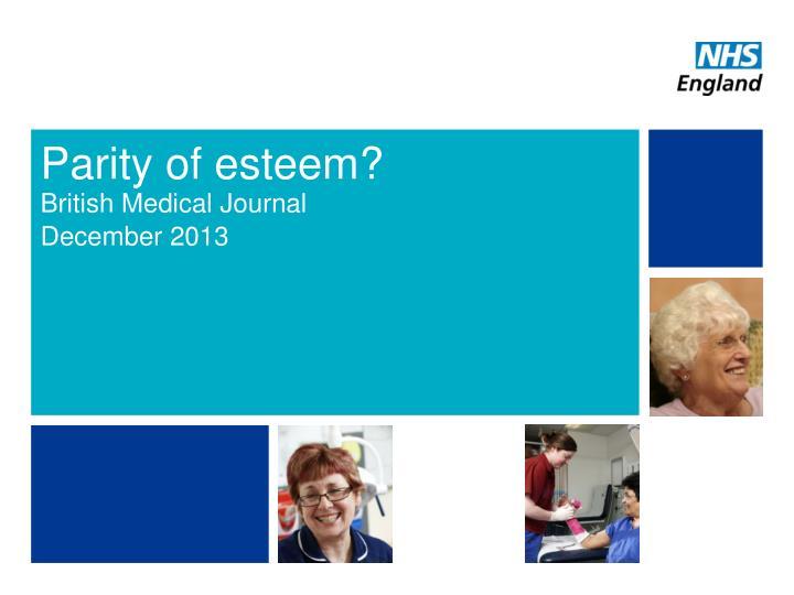 Parity of esteem