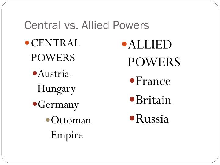 Central vs. Allied Powers