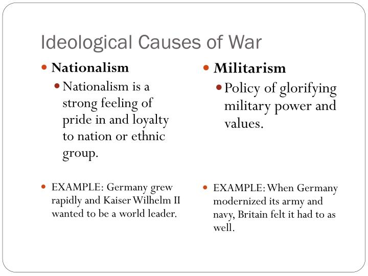 Ideological Causes of War