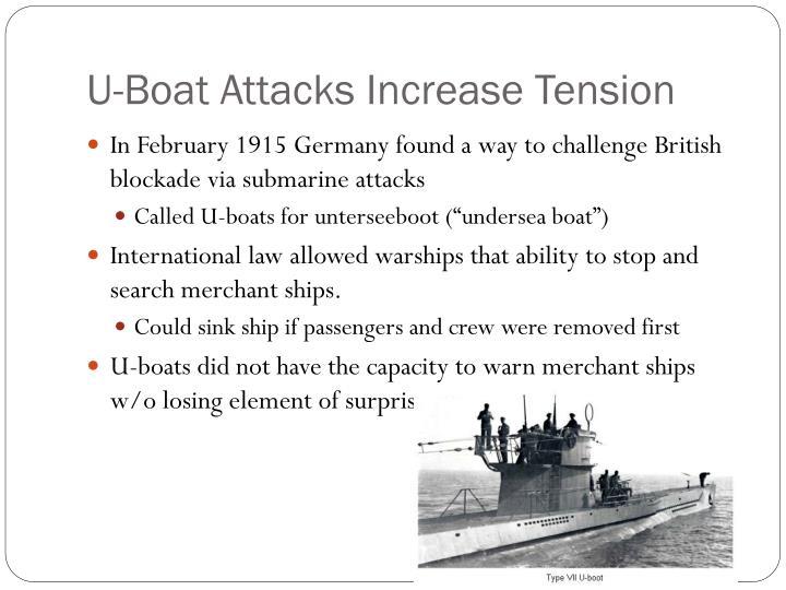 U-Boat Attacks Increase Tension