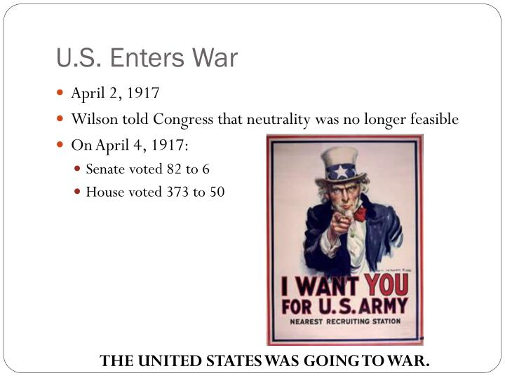 U.S. Enters War
