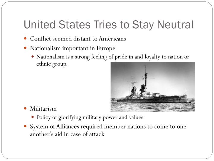 United States Tries to Stay Neutral