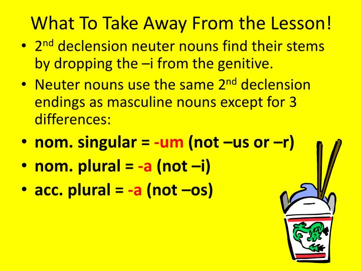 What To Take Away From the Lesson!