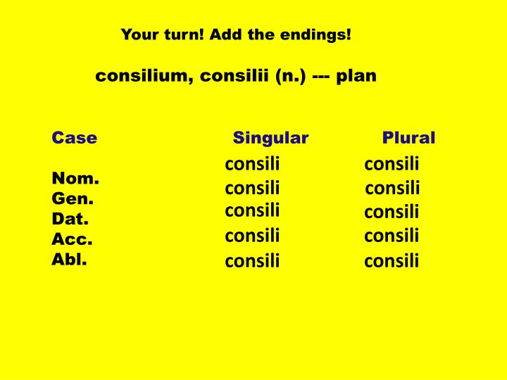 Your turn! Add the endings!