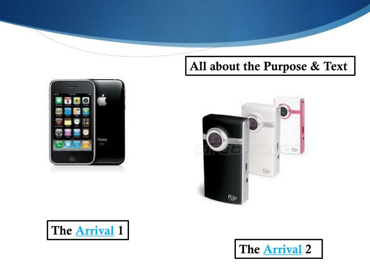 All about the Purpose & Text