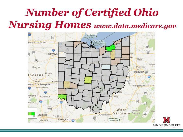 Number of Certified Ohio Nursing Homes