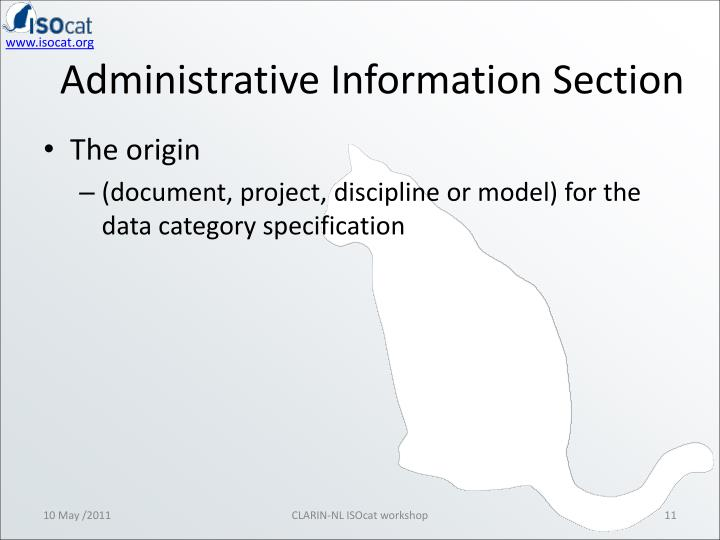 Administrative Information Section