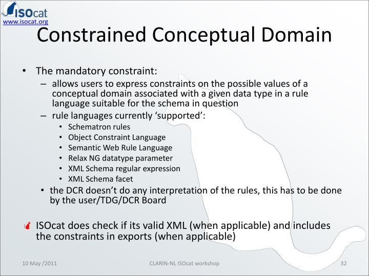 Constrained Conceptual Domain