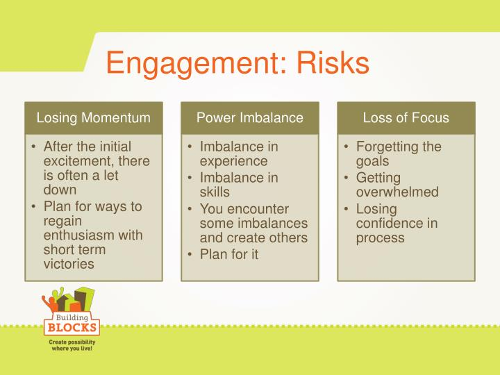 Engagement: Risks