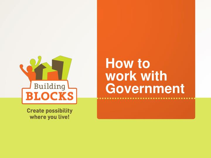 How to work with government