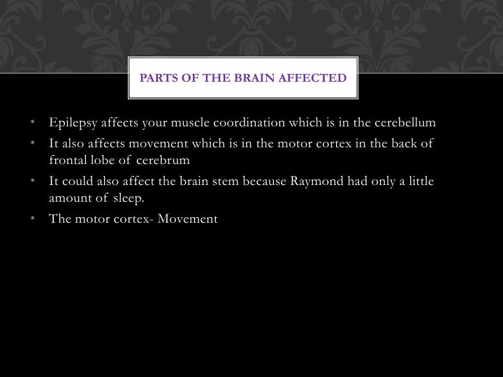 Parts of the brain affected