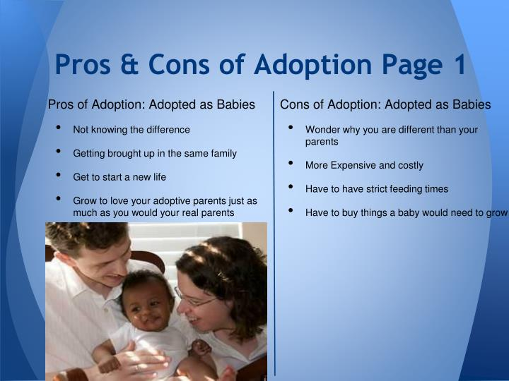 Pros & Cons of Adoption Page 1