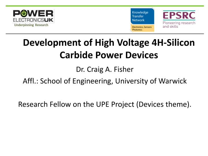 Development of high v oltage 4h silicon carbide power devices