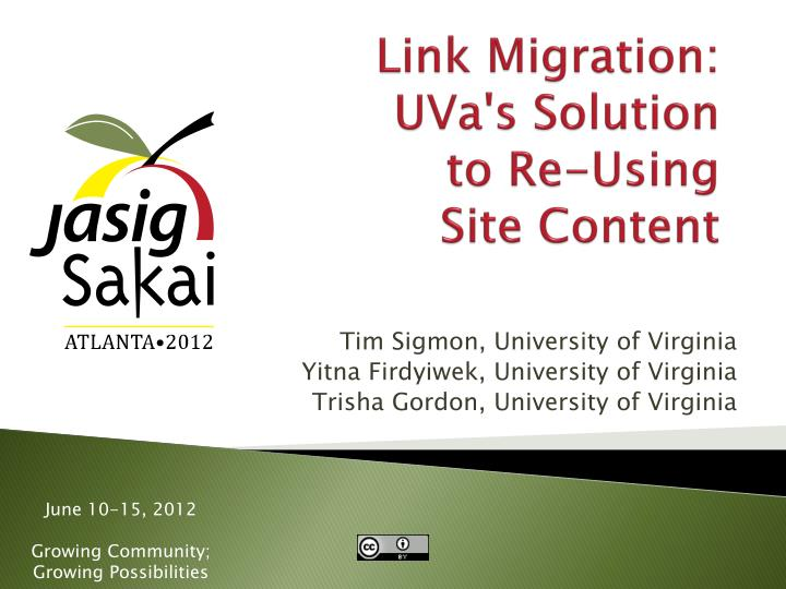 Link migration uva s solution to re using site content