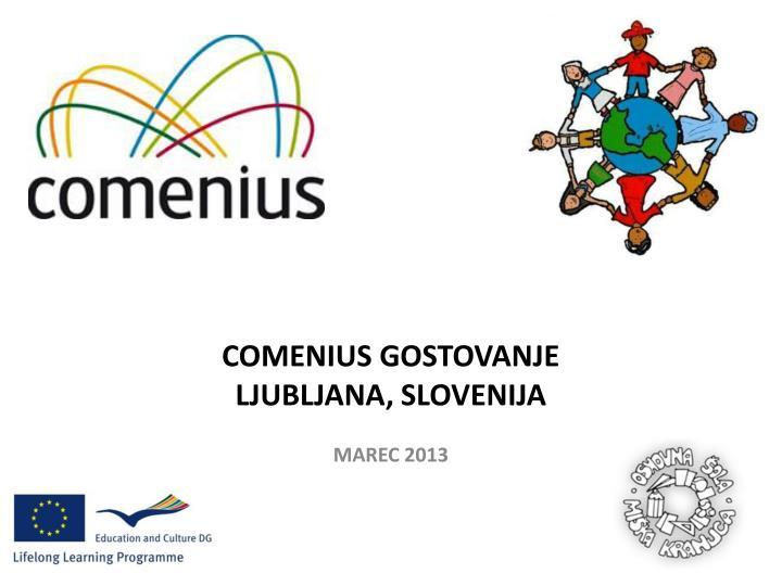 COMENIUS GOSTOVANJE