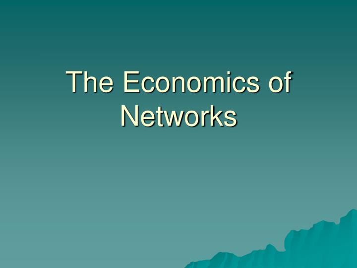 the economics of networks n.